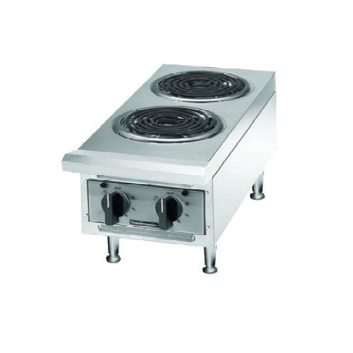 240V Single Phase Toastmaster Tmhpe Electric 2 Burner Countertop Hot Plate - Coil Elements