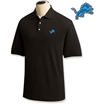 Cutter & Buck Detroit Lions Black Ace Polo by Cutter & Buck