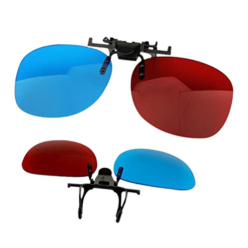 Tenflyer Red and Blue Glasses Hanging Frame 3D Stereo Glasses Myopia Clip Type