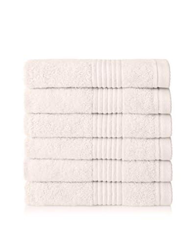 Chortex Set of 6 Ultimate Hand Towels, Cream