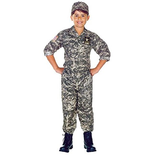 Underwraps Boys U.S. Army Halloween Party Military Costume