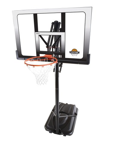 Lifetime 71286 XL Portable Basketball System with 52-Inch Shatter Guard Backboard