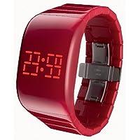 [オーディーエム]o.d.m 腕時計 illumi+(イルミプラス) デジタル表示 LEDディスプレイ フリースイッチ・タッチスライド機能搭載 レッド DD133-2 レディース 【正規輸入品】