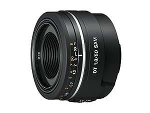 Sony SAL50F18, Porträt-Objektiv (50 mm, F1,8 SAM, A-Mount APS-C, geeignet für A77/ A58 Serien) schwarz