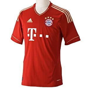 adidas Herren Trikot FC Bayern Home, university red/light football gold, S, V13554