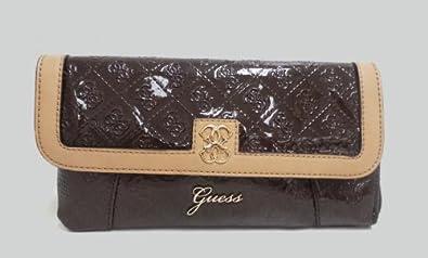 Guess Reiko Wristlet Clutch Chocolate, PG356027