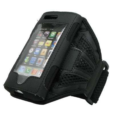 Black Mesh Gym Armband Case Cover for Apple iPhone 3G 8GB 16GB / 3G S 16GB 32GB [Accessory Export Packaging]