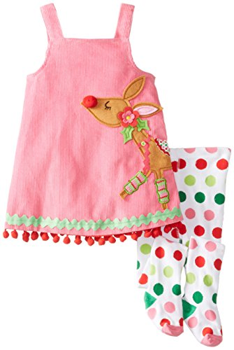 Mud Pie Little Girls' Reindeer Jumper and Tights