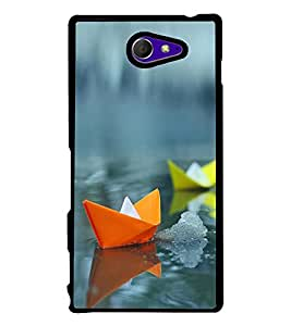 Colourful Paper Boats 2D Hard Polycarbonate Designer Back Case Cover for Sony Xperia M2 Dual :: Sony Xperia M2 Dual D2302