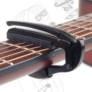 black capo clamp for acoustic electric guitar best acoustic and electric guitar. Black Bedroom Furniture Sets. Home Design Ideas