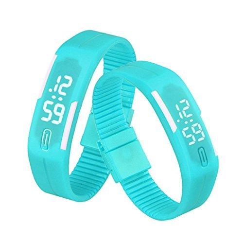 BestNow Unisex Rubber LED Watch Date Sports Bracelet Digital
