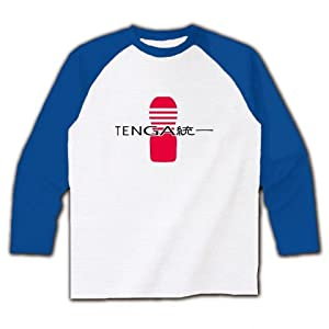 TENGA統一 ラグラン長袖Tシャツ(ホワイト×ブルー) M