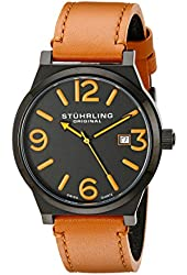 Stuhrling Original Men's 454.3355K1 Leisure Eagle Osprey Swiss Quartz Date Beige Watch