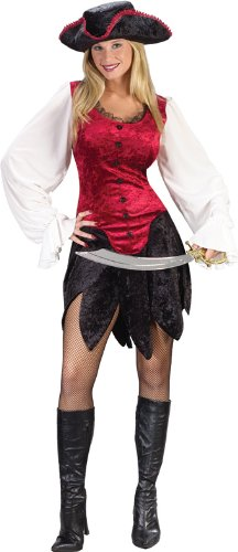 Classic Pirate Lady Sexy Womens 2 Piece Costume