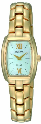 Seiko Women's SUP072 Stainless Steel Analog with Mother-Of-Pearl Dial Watch