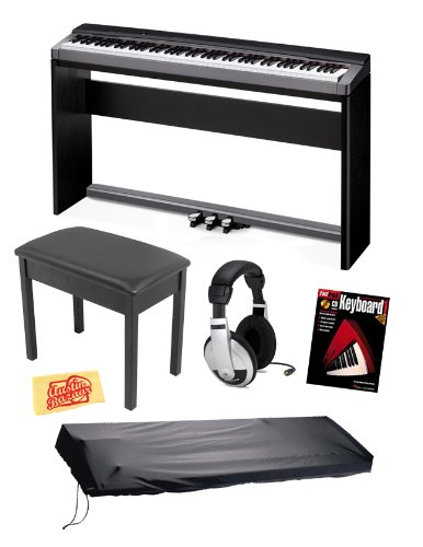 casio px130 privia digital piano keyboard bundle including stand triple pedal board bench. Black Bedroom Furniture Sets. Home Design Ideas