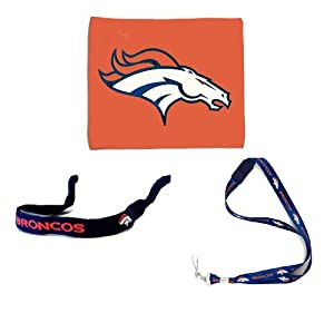 Denver Broncos NFL Game Day Bundle Team Gear Gift Pack includes Rally Towel, Lanyard,... by NFL