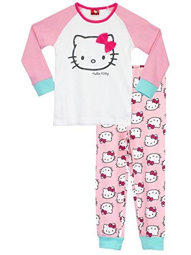 Hello Kitty - Pigiama a maniche lunghe per ragazze - Hello Kitty - 5 - 6 anni