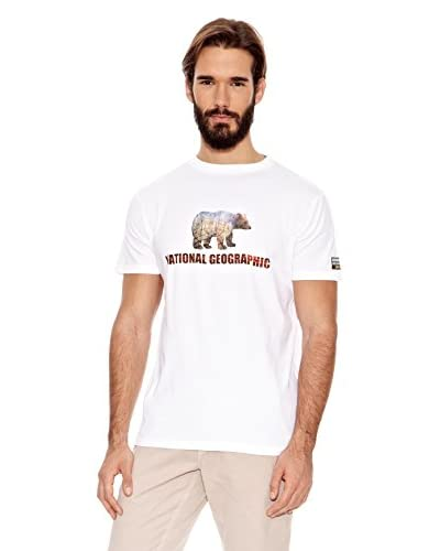 National Geographic T-Shirt Bear Bianco XL