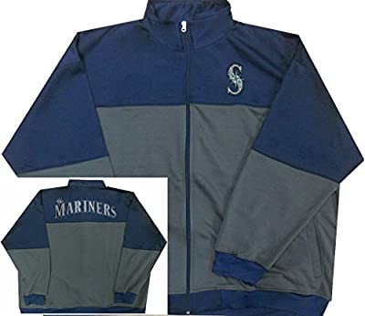 Seattle Mariners MLB Majestic Mens 2-Tone Track Jacket Big & Tall Sizes
