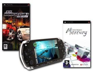 Console Bundle (Inc: PSP Value Pack, Midnight Club 3, Mercury) (PSP)