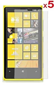 5 in 1 (Pack of 5) LCD Screen Protector/ Cover/ Guard /Film Includes Cleaning Cloth For Nokia Lumia 1520