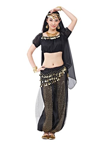 AveryDance Professional Belly Dance 5-pieces Costume Set