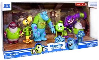 Disney / Pixar Monsters University Exclusive Figure 6-Pack Frat Pack [Oozma Kappa Students] (Monster Inc Figures compare prices)