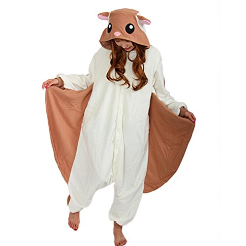 ESY Cosplay Pajamas Flying Squirrel Onesie for Adult
