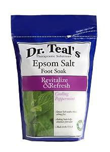 Dr. Teal's Epsom Salt Foot Soak, Cooling Peppermint, 32 Ounce