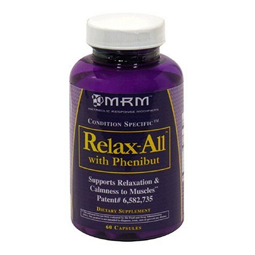 MRM Metabolic Response Modifiers Relax-All Capsules with Phenibut, 60-Count Bottles
