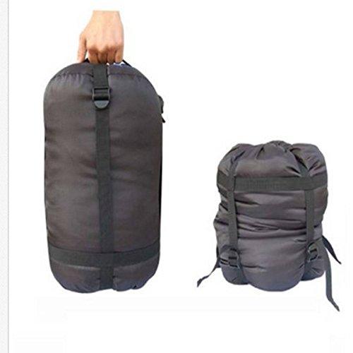 CAMTOA campeggio d'escursione esterno di nylon compressione Sacks Bag Sacco a pelo roba di compressione di immagazzinaggio Bag Sack nero