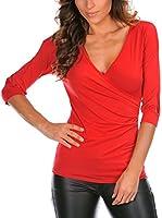 LA FILLE DU COUTURIER Camiseta Manga Corta Annabelle (Rojo)