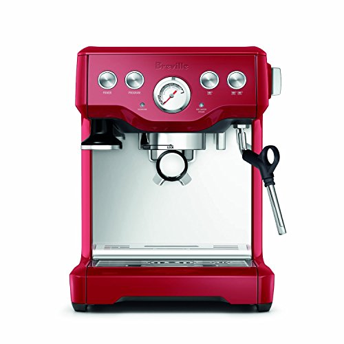 Pre-Infusion Function Espresso Machin in Cranberry Red