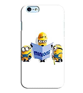 Blue Throat Minion Doing Constrcution Printed Designer Back Cover/ Case For Apple iPhone 6s Plus