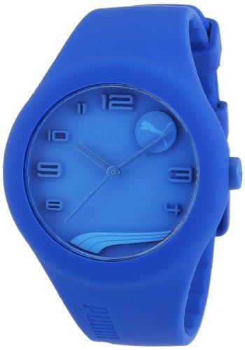 Esprit A.PU103001003 - Reloj analógico de cuarzo para hombre con correa de silicona, color azul