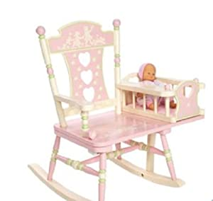 children kids girls baby pink rocking chair bedroom