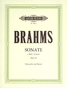 EDITION PETERS BRAHMS JOHANNES - SONATA IN E MINOR OP.38 - CELLO AND PIANO Classical sheets Cello from EDITION PETERS