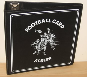 1-One-Black-Binder-BCW-3-Inch-D-Ring-NFL-Football-Trading-Cards-Collection-Album