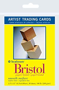 """Strathmore Papers Artist Trading Cards 300 Series Bristol Smooth Surface (2.5""""x3.5"""")"""