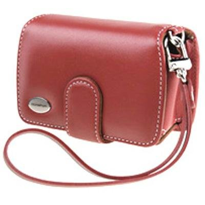 Olympus Slim Leather Case for Compact Digital Cameras (Red)