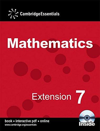 Cambridge Essentials Mathematics Extension 7 Pupil's Book with CD-ROM: No. 7