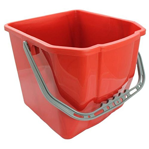 aviva-cleanr-cubo-25-litros-color-rojo-adecuado-para-carro-doble