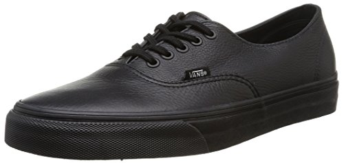 Vans U Authentic Decon Leather - Sneakers Basse unisex, colore nero (black/black), taglia 38
