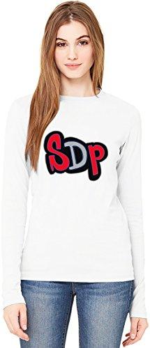 SDP Logo T-Shirt da Donna a Maniche Lunghe Long-Sleeve T-shirt For Women| 100% Premium Cotton Ultimate Comfort Medium