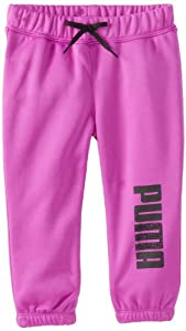 PUMA Girls 2-6X Core Roll Up Pant, Purple Cactus, 4/Toddler