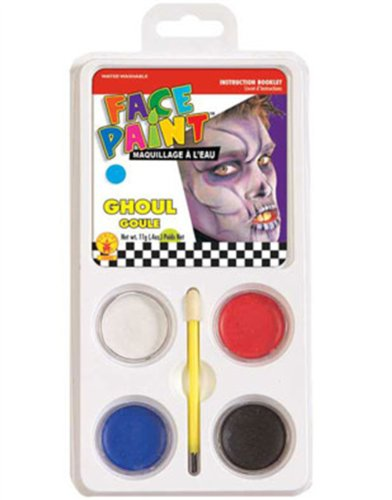 Ghoul Ghost or Zombie Costume Accessory 5-Piece Aqua Makeup Kit