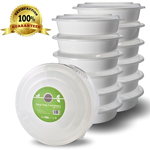 Meal Prep Containers with Lids, 48oz. (9