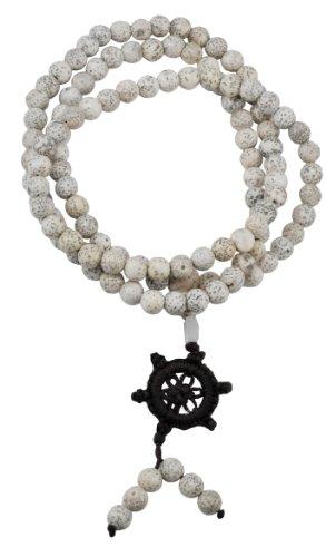 Tibetan Elastic String 108 Genuine Polished Lotus Seed Prayer Beads Necklace, 7mm, Lotus Seed Mala, Lotus Seed Necklace