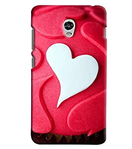 Omnam White And Red Heart Pattern Printed Back Cover Case For Lenovo Vibe P1